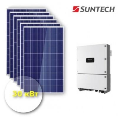 """Сетевая Солнечная электростанция 30 кВт """"Бюджет"""""""