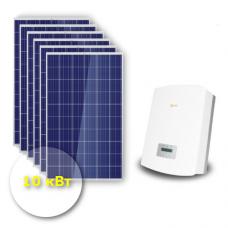 """Сетевая солнечная электростанция 10 кВт """"Эконом"""""""