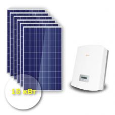 """Сетевая солнечная электростанция 15 кВт """"Эконом"""""""