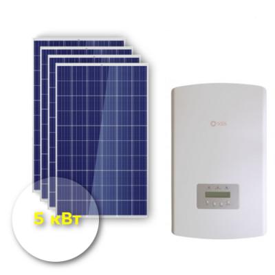 """Сетевая солнечная электростанция 5 кВт """"Эконом"""""""