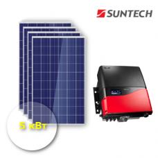 """Сетевая солнечная электростанция 5 кВт """"Бюджет"""""""