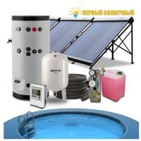 Подогрев бассейна 40 - 50 куб.м + ГВС 300 л солнечными коллекторами