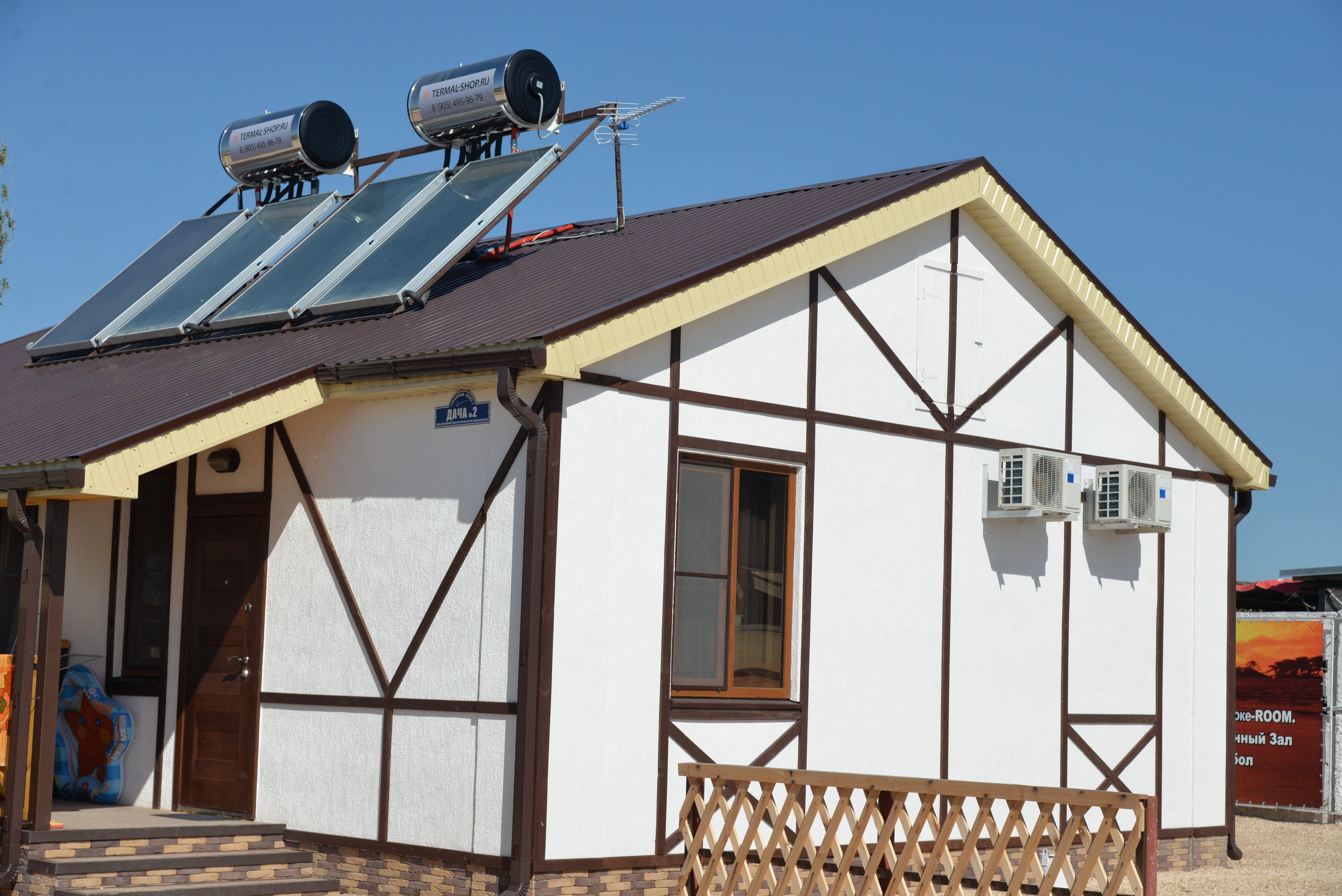 Солнечные коллекторы для коттеджа